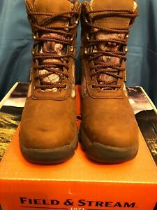 NWT! Field & Stream Youth Woodsman Shoes Sz. 4 Color Brown/Hunter