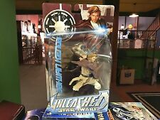 2004 STAR WARS UNLEASHED 6 INCH - OBI WAN KENOBI - NEW BLACK JEDI