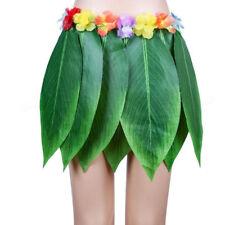 Hawaiian Hula Girl Grass Leaf Skirt Fancy Dress Costume Outfit Beach Wear CH