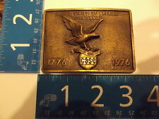 Vintage Belt Buckle Solid Brass J I Case BICENTENNIAL Rare missing parts