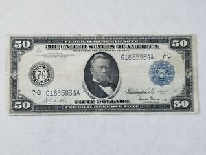 1914 $50 Mid Grade Federal Reserve Note