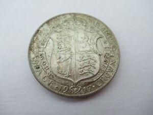 High Grade 1917 Half Crown Silver