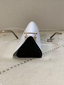 Montblanc MB 391 Rimless eyeglass Rose gold 55-17-145