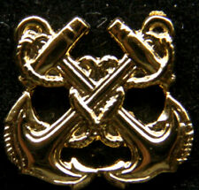 BOATSWAINS MATE RATE GOLD HAT LAPEL VEST PIN UP BADGE US NAVY VETERAN USS SAILOR