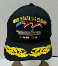 USS Ronald Reagan CVN 76 Snapback Navy Gold Leaf Made in the USA