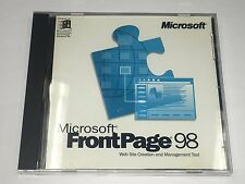 Microsoft FrontPage 98 website creation software for Windows 95 & NT CD-ROM USED