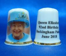 Birchcroft China Thimble --  H M Queen Elizabeth 92nd Birthday  with Free Box