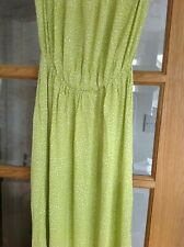 LONG BEACH DRESS SIZE 6 NEXT LIME GREEN W WHITE SPOTS ELASTICATED OVER BUST