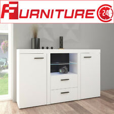 Living Room Furniture Sideboard Cupboard Cabinet Tv Unit Modern Set White