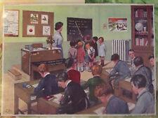 Objet de Métier Affiche Scolaire  une Classe dans les années 1950