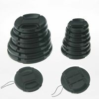 10pcs 67mm Center Pinch Snap-on Front Cap for Olympus Nikon Canon with cord