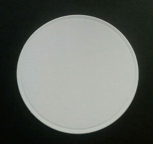 Die Cut Plain Circles In White Card In 8 size Options