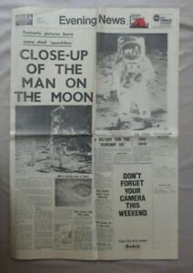 EVENING NEWS AUG 1st 1969 CLOSE-UP OF THE MAN ON THE MOON