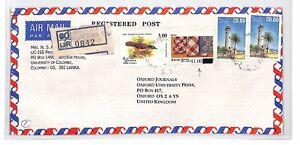BT123 Sri Lanka Colombo Commercial Air Mail Cover {samwells}PTS