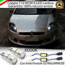 COPPIA LUCI DI POSIZIONE 6 LED FIAT BRAVO II  + SPEGNI SPIA 100% NO AVARIA LUCI
