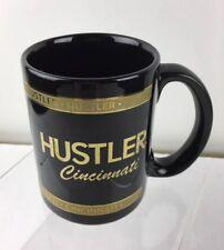 Vintage Hustler Cincinnati Coffee Mug Black and Gold w Beaver Hunt Mascot logo