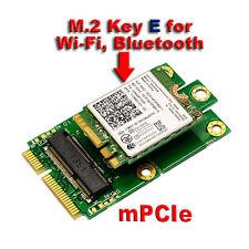 M.2 (NGFF) KEY E to mPCIe (PCIe+USB) mini PCIE Adapter