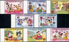 Antigua 1986 Disney/Christmas/Mickey/Minnie/Goofy/Cartoon/Animation 8v set s437m