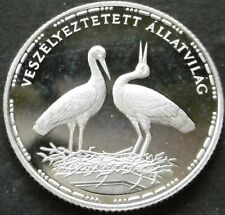 Hungary 200 forint 1992 KM#688 silver, White Storks