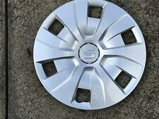 "SEAT IBIZA 15"" WHEEL TRIM X 1 HUB CAP GENUINE 6J0601147E CLIP ON TYPE"