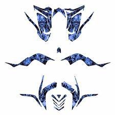Raptor 700 graphics 2006 - 2012 custom deco kit #9500 Blue Zombie Skull