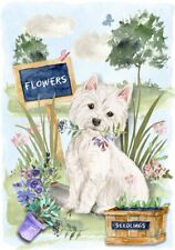 "West Highland White Terrier Dog (4"" x 6"") Blank Card/Notelet Design By Starprint"