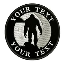 CUSTOMIZE YOUR TEXT Bigfoot Sasquatch Embroidered Patch Iron / Sew-On Applique