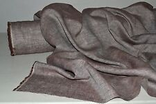 """100% Linen Brown Cross Dyed 5 oz Mid Weight Imported 57"""" Wide Fabric By The Yard"""