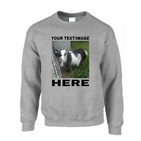 Your Text Here Custom Personalised Printed Sweatshirt Birthday Gift Idea
