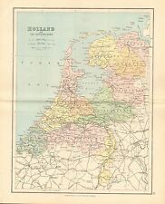 1887 ANTIQUE MAP- HOLLAND OR THE NETHERLANDS