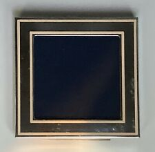 VERDURA Sterling Silver and Pink Enamel Square Baby Photo Picture Frame Made i