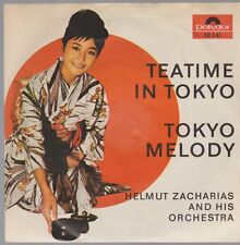 """7"""" Helmut Zacharias Teatime In Tokyo / Tokyo Melody 60`s Polydor 52 341"""