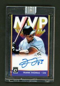 2019 Donruss Optic Frank Thomas MVP Autograph Auto White Box 1/1 White Sox