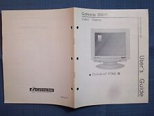 BOOK MANUAL 1993 GATEWAY 2000 VIDEO DISPLAY CRYSTAL SCAN 1776LE G USERS GUIDE MA