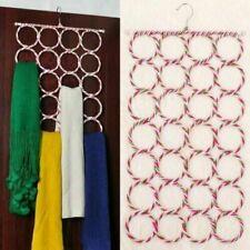 2 Organiser Storage Multi Scarf Hanger Circular Wardrobe Space Ties Belt Scarves