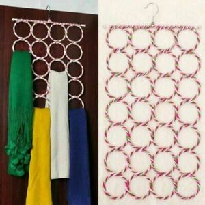 Organiser Storage Multi Scarf Hanger Circular Wardrobe Space Ties Belt Scarves