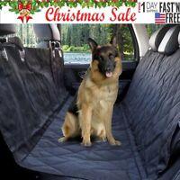 Waterproof Car SUV Van Pet Dog Cat Back Rear Seat Bench Mat Cover 600D Oxford