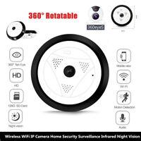 360°  Wireless WiFi IP Camera Security Surveillance Infrared Night Vision Set