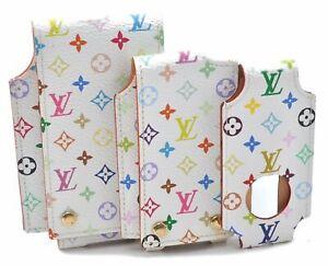Authentic Louis Vuitton Monogram Multicolor Ipod Case White 3Set LV B6613