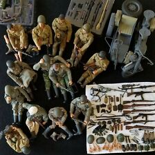 HUGE 100+ LOT 21ST CENTURY WW2 FIGURES 1:6 13 SOLDIERS MOTORCYCLE SIDE CAR