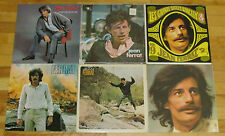 JEAN FERRAT 6 LP LOT ALBUM VINYL COLLECTION Records Grands Succes/Je Ne Suis Cri
