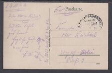 Saar, 1916 Bahnpost Feldpostkarte, Stampless PPC w/ Railway Cancel