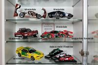 Display Stand/Support for 1/18 model cars - for AutoArt, Exoto, CMC * PLAIN 10cm