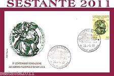 Italy FDC Rome Foundation Academy of St. Luke 1993, revoke Matera, e90