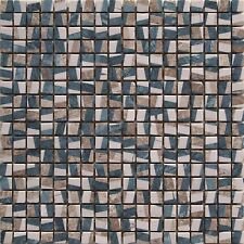 Green Brown Blue Cream Stone Bathroom Border Splash back Kitchen Mosaic Tiles