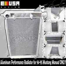 "2"" 2 ROW Aluminum Performance Racing Radiator for 94-95 Mustang Manual ONLY"