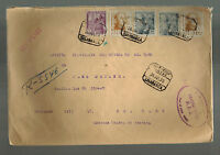 1950 Salamanca Spain Registered Airmail Cover to USA