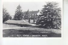 Real Photo Postcard Driveway to Front  of Rest House Swansea MA