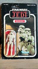 Vintage Star Wars ROTJ STORMTROOPER MOC 77 back Kenner 1983