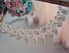 Gorgeous Diamante Bridal Applique Beaded Motif Rhinestone Wedding Applique